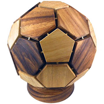 3D brain teaser soccer ball