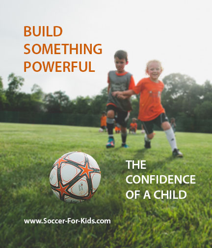 Build something special - A confident child with Soccer Shots