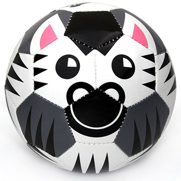 zebra toddler soccer ball