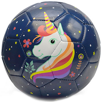 Kids unicorn soccer ball