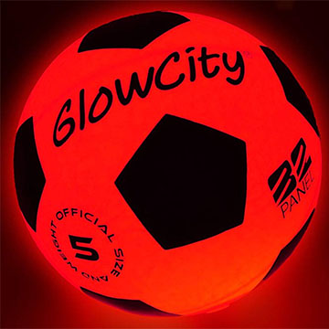 LED glow light soccer ball