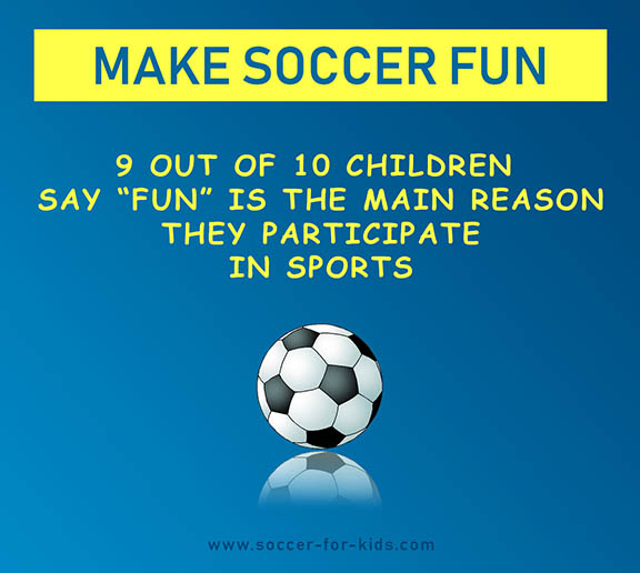 Make youth soccer fun graphic