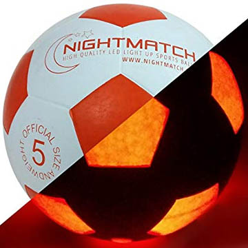 Nightmatch glowing soccer ball