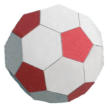 Paper soccer ball photo