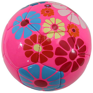 pink girls soccer ball