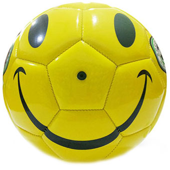 Smiley face soccer ball