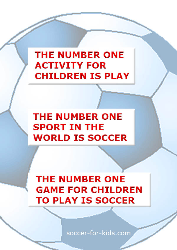 Kids soccer quote on play