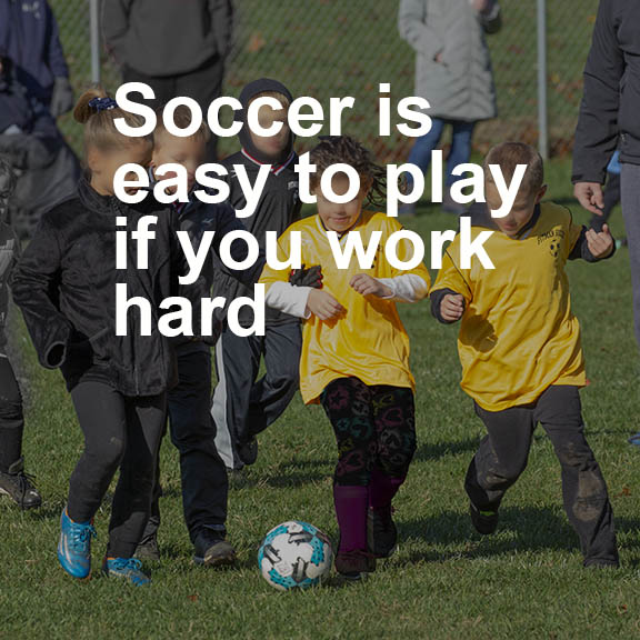 Soccer quote easy play work hard