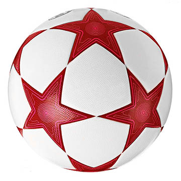 Star shaped soccer ball panel