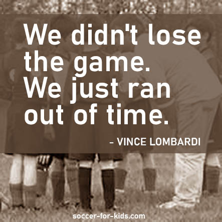 Vince Lombardi quote on losing the game