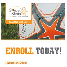 How to enroll in indoor soccer with Soccer Shots in Gloucester County, NJ