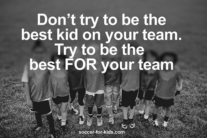 children soccer team quote