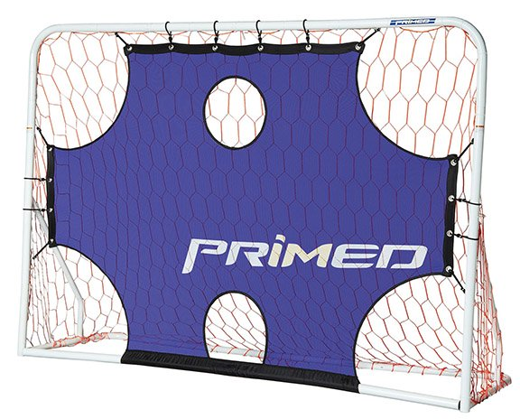 small soccer net with targets